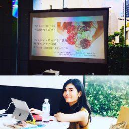 千代田区MIW祭!公開講座「ヘッドマッサージミニ講座  & セルフケア体験 」を10月4日に開催させていただきました。