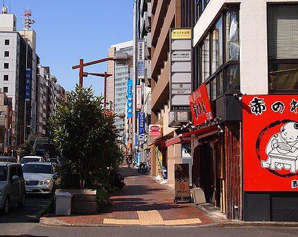 【6】一休のひらめき九段下目白通りの信号を「赤のれん」さん方面に渡る
